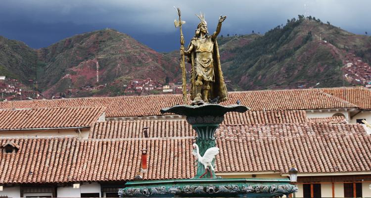 Куско, памятник Великому Инке